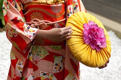 Vestiti giapponesi tradizionali Immagini Stock Libere da Diritti