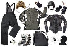 Vestiti maschii dello sciatore Immagine Stock