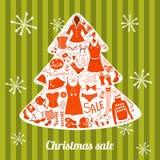 Vestiti messi, illustrazione di Natale di vettore Fotografia Stock Libera da Diritti