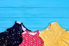 Vestiti naturali da estate delle ragazze del bambino Immagini Stock