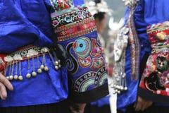 Vestiti nazionali cinesi di minoranza Fotografia Stock