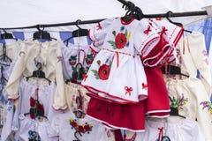 Vestiti nazionali etnici del ricamo Fotografia Stock Libera da Diritti