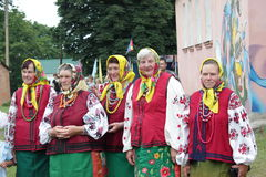 Vestiti nazionali ucraini Immagini Stock