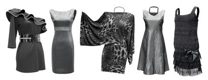 Vestiti neri da grey impostati Immagine Stock
