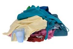 Vestiti per la lavanderia fotografia stock