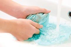 Vestiti per lavarsi le mani Immagini Stock