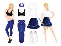 Vestiti per lo sport o la forma fisica Fotografia Stock