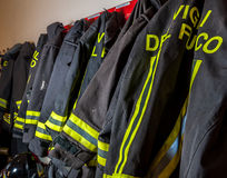 Vestiti a prova di fuoco Fotografie Stock
