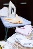 Vestiti rivestenti di ferro Fotografie Stock