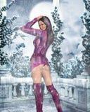 Vestiti sexy di inverno Illustrazione di Stock