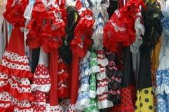 Vestiti spagnoli da folclore Fotografia Stock