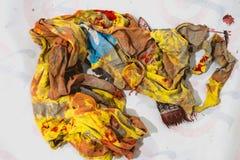 Vestiti sporchi del ` s del pittore fotografie stock