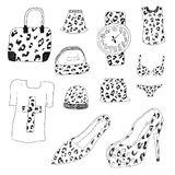 Vestiti strutturati del leopardo Fotografie Stock