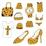 Vestiti strutturati del leopardo Fotografia Stock Libera da Diritti