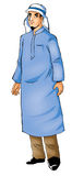 Vestiti tipici dell'Arabo Immagini Stock Libere da Diritti