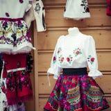 Vestiti tradizionali in Zakopane, Polonia fotografia stock libera da diritti