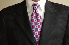 Vestito & legame dell'uomo d'affari Fotografia Stock