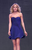 Vestito blu da Sofia Fashion Week Immagine Stock