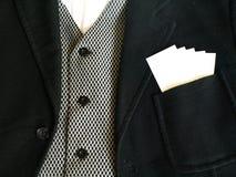 Vestito con le schede in bianco Fotografia Stock Libera da Diritti