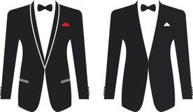 Vestito convenzionale degli uomini su un fondo bianco illustrazione vettoriale