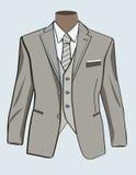 Vestito convenzionale per gli uomini royalty illustrazione gratis