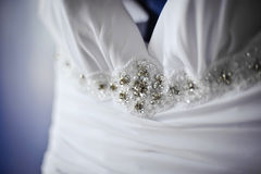 Vestito da cerimonia nuziale Fotografie Stock Libere da Diritti