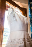 Vestito da cerimonia nuziale Fotografie Stock
