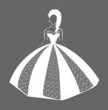 Vestito da cerimonia nuziale Royalty Illustrazione gratis