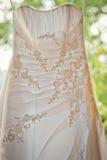 Vestito da cerimonia nuziale bianco fotografia stock