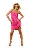 Vestito da colore rosa caldo Immagini Stock