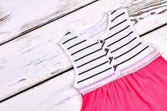 Vestito da estate di marca della ragazza del bambino Immagini Stock Libere da Diritti