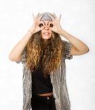 Vestito da inverno per una ragazza di vetro fotografia stock libera da diritti