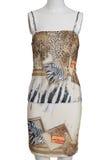 Vestito da modo del leopardo sul manichino Fotografie Stock
