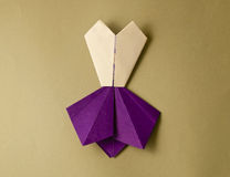 Vestito da origami Fotografie Stock