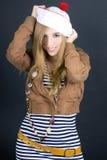 Vestito da portare dal marinaio della ragazza Immagini Stock