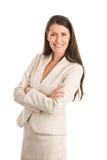 Vestito da portare della donna di affari elegante Fotografie Stock