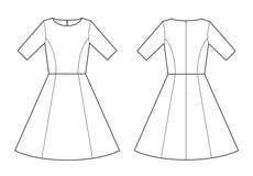 Vestito da schizzo dell'indumento per fabbricazione dell'industria della moda royalty illustrazione gratis