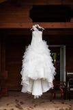Vestito da sposa Fotografia Stock
