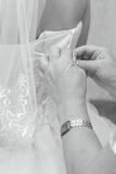 Vestito da sposa Fotografie Stock
