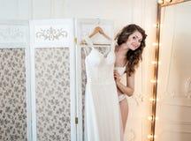 Vestito da sposa da progettazione Immagine Stock Libera da Diritti