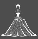 Vestito da sposa dal pizzo Illustrazione di Stock