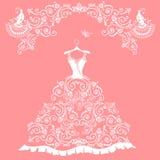 Vestito da sposa dal pizzo Fotografie Stock Libere da Diritti
