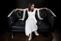 Vestito da sposa nuziale moderno fotografie stock