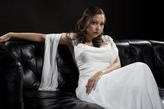 Vestito da sposa nuziale moderno immagini stock