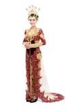Vestito da sposa tradizionale dalla donna di Java fotografia stock