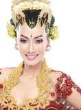 Vestito da sposa tradizionale dalla donna di Java fotografia stock libera da diritti