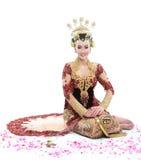 Vestito da sposa tradizionale dalla donna di Java Fotografie Stock Libere da Diritti