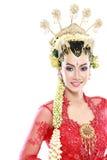 Vestito da sposa tradizionale dalla donna di Java Immagine Stock Libera da Diritti