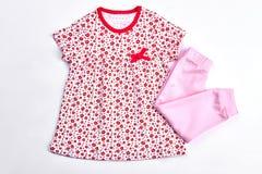 Vestito dal cotone della stampa floreale della neonata Fotografia Stock Libera da Diritti