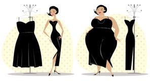 Dopo e prima della dieta royalty illustrazione gratis